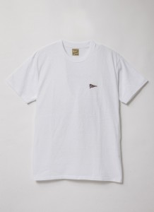 BF-12-050 THE BROWN FLAG EMBROIDER T (FRONT EMBROIDER  BACK THE BELAFONTE STORE PRINT) WHITE1